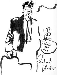 Johnny Cash von Reinhard Kleist