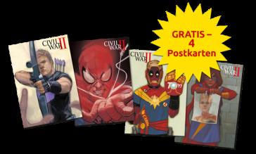 Marvel-Postkarten